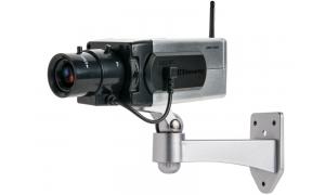 Srebrna atrapa kamery z diodą