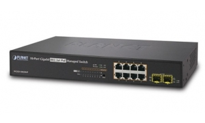 Planet WGSD-10020HP - Switch 8xGE PoE + 2xSFP